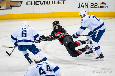 January 19, 2014. Carolina Hurricanes vs. Tampa Bay Lightning, PNC Arena, Raleigh, NC. Copyright © 2014 Jamie Kellner. All rights reserved.