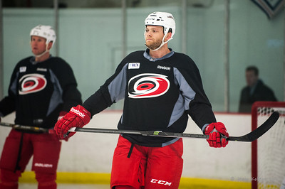 Tim Gleason. October 23, 2013. Carolina Hurricanes practice at Raleigh Center Ice, Raleigh, NC.  Copyright © 2013 Jamie Kellner. All rights reserved.