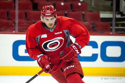 Brady Vail. July 24, 2014. Carolina Hurricanes Prospect Development Camp, PNC Arena, Raleigh, NC. Coyright © 2014 Jamie Kellner. All Rights Reserved.