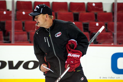 Bill Peters. July 24, 2014. Carolina Hurricanes Prospect Development Camp, PNC Arena, Raleigh, NC. Coyright © 2014 Jamie Kellner. All Rights Reserved.
