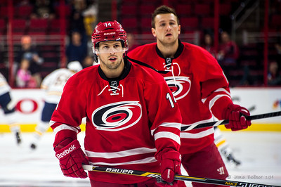 Nathan Gerbe and Jiri Tlusty