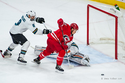 November 16, 2014. Carolina Hurricanes vs. San Jose Sharks, PNC Arena, Raleigh, NC. Copyright © 2014 Jamie Kellner. All rights reserved.