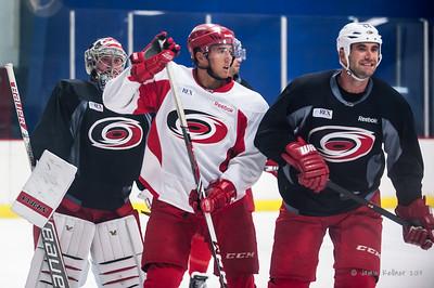 September 9, 2014. Carolina Hurricanes preseason practice at Raleigh Center Ice, Raleigh, NC.  Copyright © 2014 Jamie Kellner. All rights reserved.