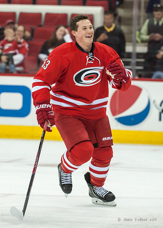 Jeff Skinner. September 18, 2013. Carolina Hurricanes vs. Columbus Blue Jackets, PNC Arena, Raleigh, NC.  Copyright © 2013 Jamie Kellner. All rights reserved.