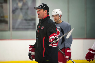 "Kirk Muller. I think this is when he told the ""ladies"" to get it in gear. October 23, 2013. Carolina Hurricanes practice at Raleigh Center Ice, Raleigh, NC.  Copyright © 2013 Jamie Kellner. All rights reserved."